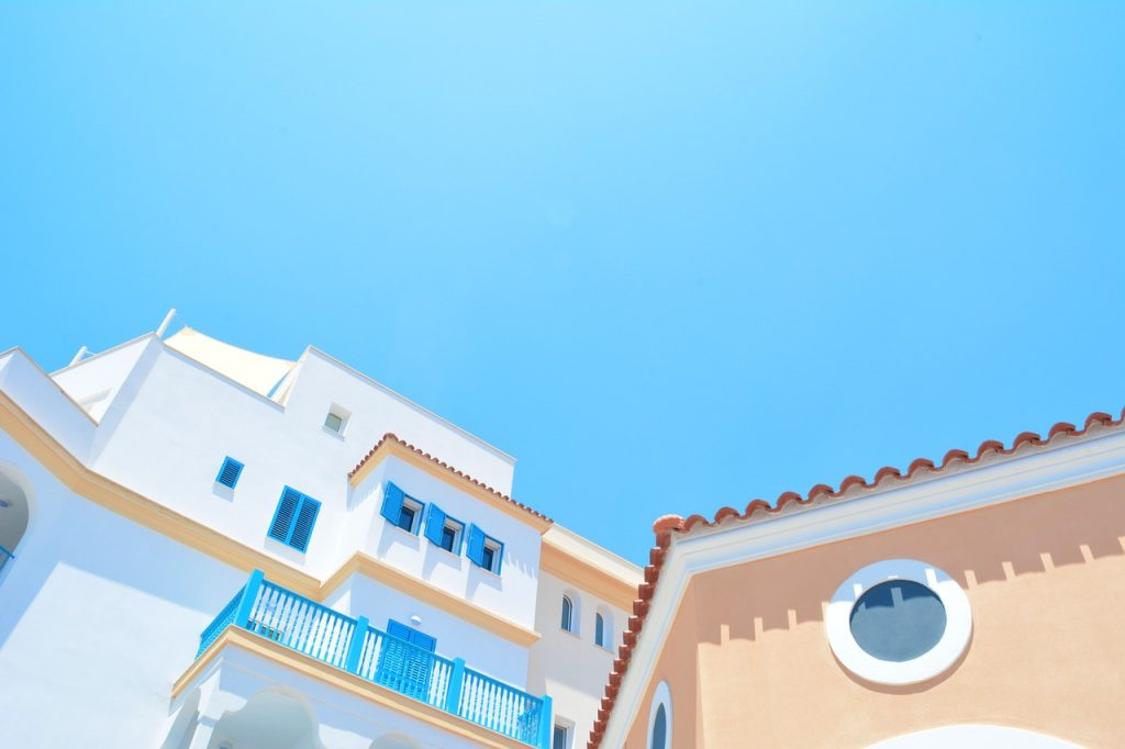 architecture, blue sky, buildings