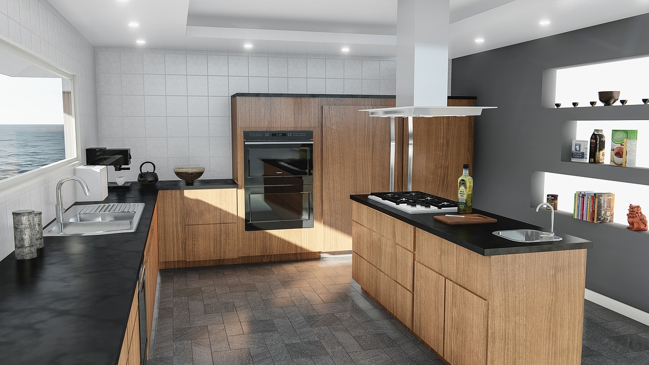 kitchen, design, modern