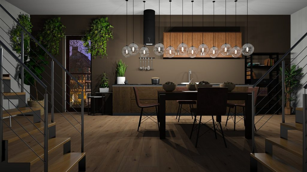 kitchen, dining room, be