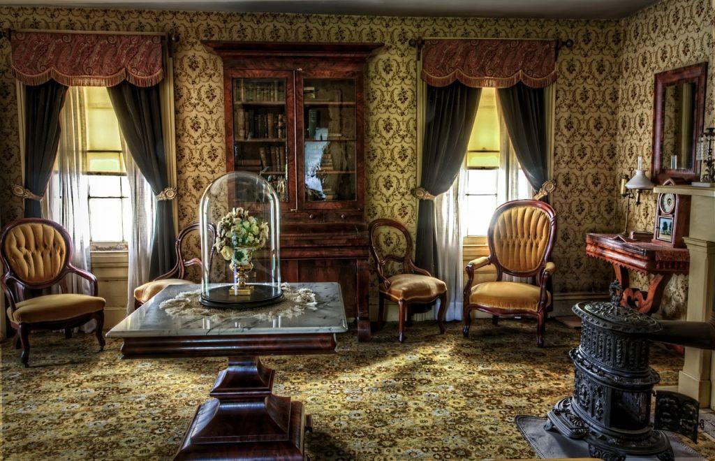 living room, victorian, historic